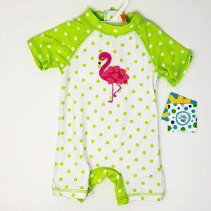Flamingo Polka Dot Swimsuit